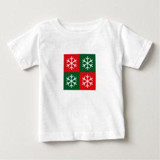ポップアートの雪片 ベビーTシャツ