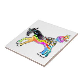 ポップアートの馬のタイル タイル