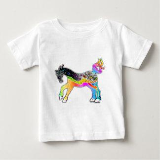 ポップアートの馬 ベビーTシャツ