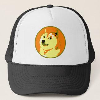 ポップアートのdogecoinのデザイン キャップ