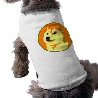 ポップアートのdogecoinのデザイン ペット服
