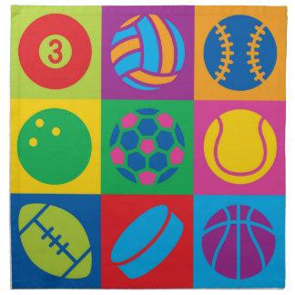 ポップアートは球を遊ばします ナプキンクロス