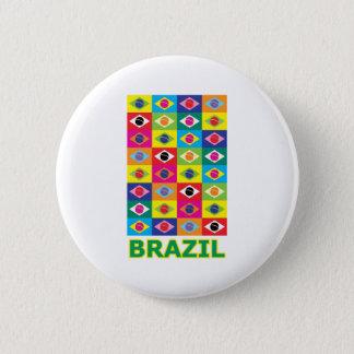 ポップアートブラジル 5.7CM 丸型バッジ