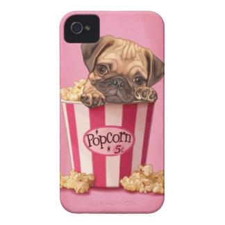 ポップコーンのパグ Case-Mate iPhone 4 ケース
