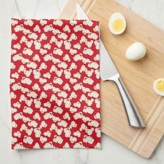 ポップコーンパターンおもしろいの台所タオル キッチンタオル