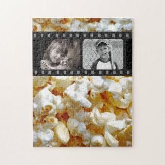 ポップコーン-映画スタイルのカスタムな写真のパズル ジグソーパズル