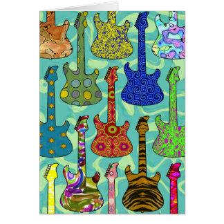 ポップ・アートのなギター カード