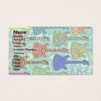 ポップ・アートのなギター 名刺