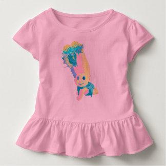 ポップ・アートのなスタイルの這うベビードール トドラーTシャツ