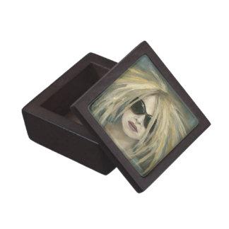 ポップ・アートのなパンクのGrrrlのモダンな絵画の女性ポートレート ギフトボックス