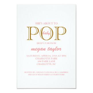 ポップ・アートのなベビーシャワーの招待|whitepibr カード