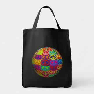 ポップ・アートのな平和球 トートバッグ