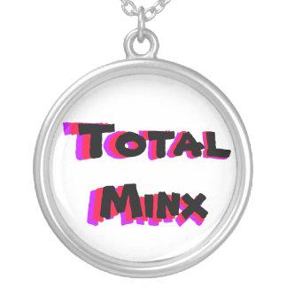 ポップ・アートのな総Minxのネックレス シルバープレートネックレス