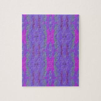 ポップ・アートのな蛍光ピンクのラベンダーの上品パターン ジグソーパズル