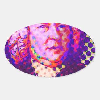 ポップ・アートのなBach 楕円形シール
