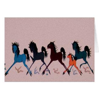ポップ・アートのなChaleeの馬の壁画 カード