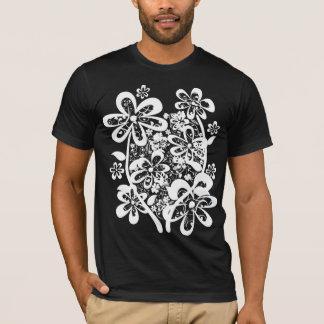 ポップ・アートのなFLOWER-W Tシャツ