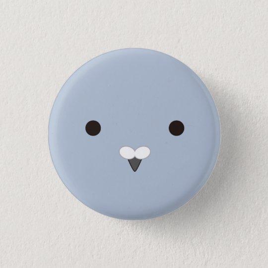 ポッポさん(灰)-Coo!(gray) 3.2cm 丸型バッジ