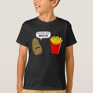 ポテトおよび揚げ物 Tシャツ