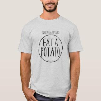 ポテトがあないで下さい。 ポテトを食べて下さい Tシャツ