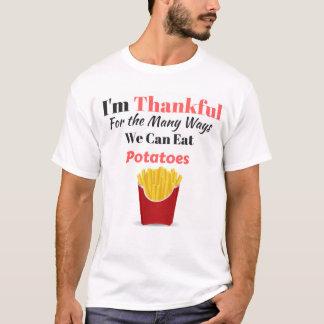ポテトのために感謝している Tシャツ