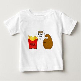 ポテトのフライドポテトはことですか。 おもしろい ベビーTシャツ