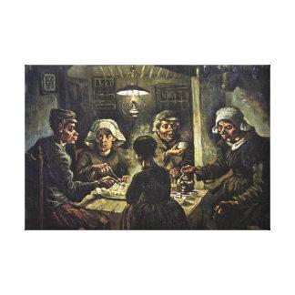 ポテトの食べる人1885年、ゴッホ キャンバスプリント
