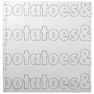ポテト及びポテト及びポテト ナプキンクロス
