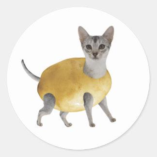 ポテト猫 ラウンドシール