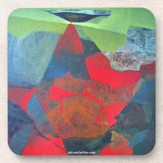 ポトシボリビア21.9 x 27.6の抽象的な景色 コースター