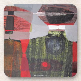 ポトシボリビア28.9x19.6の抽象的な景色 飲み物コースター