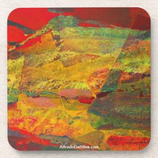 ポトシボリビア29x18の抽象的な景色 ドリンクコースター