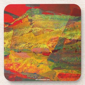 ポトシボリビア29x18の抽象的な景色 ビバレッジコースター