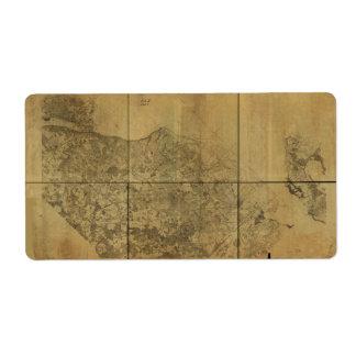 ポトマック川1860年へのヴァージニアの地図アレキサンドリア ラベル