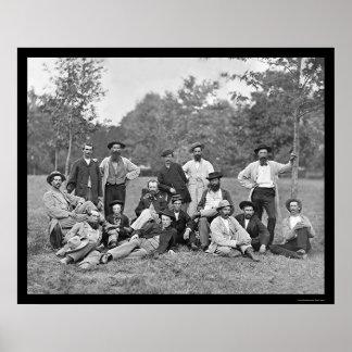 ポトマック1864年の軍隊の偵察者そしてガイド ポスター