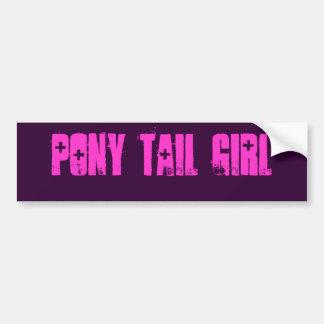 ポニーテールの女の子 バンパーステッカー