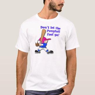 ポニーテールの茶色3 Tシャツ