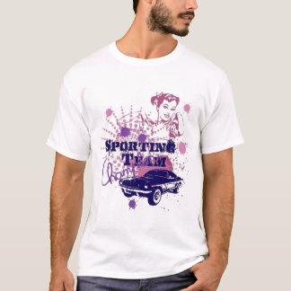ポニーテールのTシャツを持つ女の子 Tシャツ
