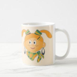ポニーテールを持つ女の子 コーヒーマグカップ
