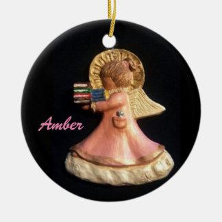 ポニーテールCHORUS-AMBERのコレクターのオーナメント 陶器製丸型オーナメント