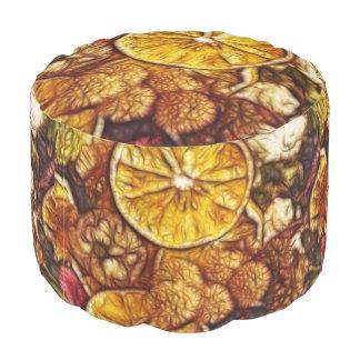 ポプリのオレンジのフラクタル プーフ