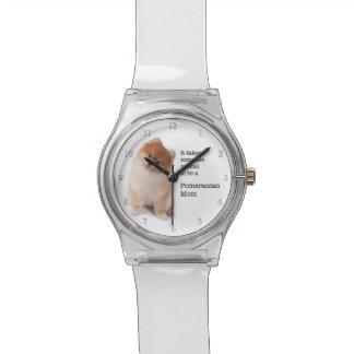 ポメラニア犬のお母さんの腕時計 腕時計