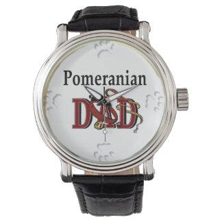 ポメラニア犬のパパのギフト 腕時計