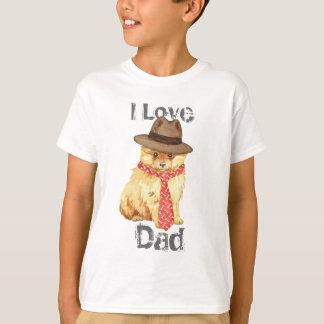ポメラニア犬のパパ Tシャツ