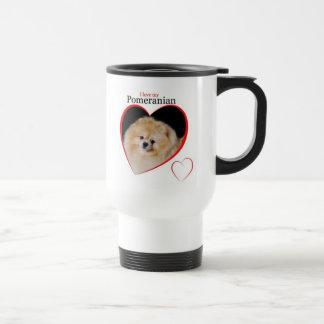 ポメラニア犬のマグ トラベルマグ