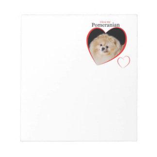 ポメラニア犬のメモ帳 ノートパッド