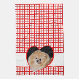 ポメラニア犬の台所タオル キッチンタオル