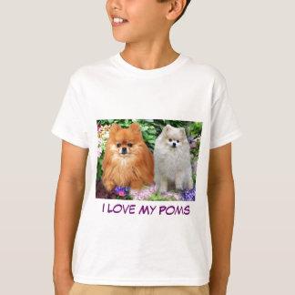 ポメラニア犬の子供のTシャツ Tシャツ