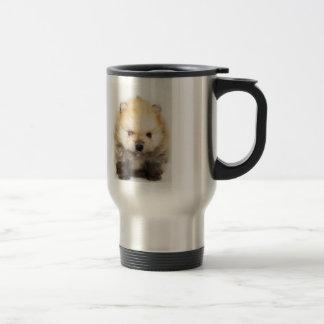 ポメラニア犬の子犬のマグ トラベルマグ
