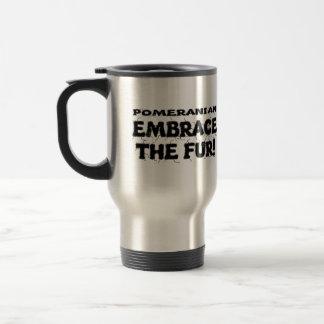 ポメラニア犬の容認毛皮 トラベルマグ